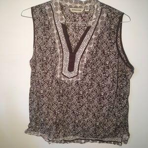 117 St Johns bay sleeveless Size Xl brown cream